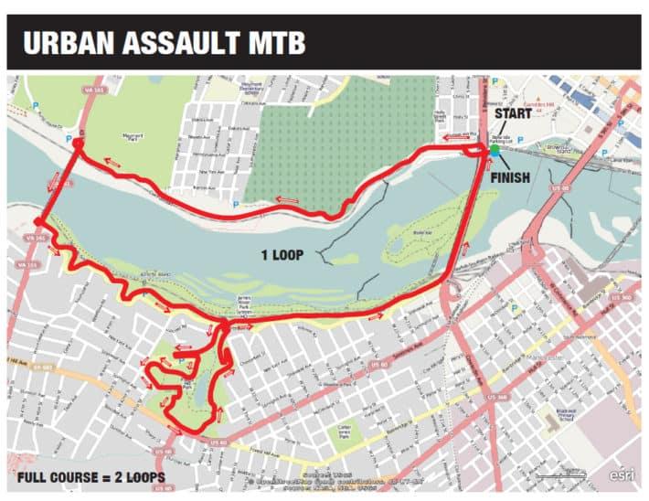 MTB Urban Assault Map