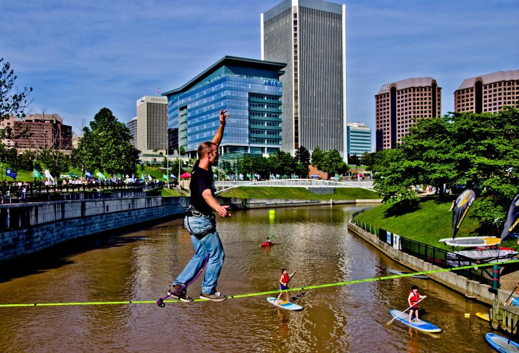 Slackline: Dave Parrish (not eligible for prize money)